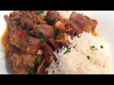 Stewed chicken gizzards