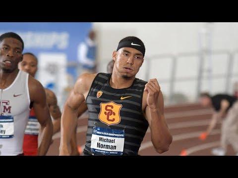 USC's Michael Norman breaks 400-meter world indoor record at NCAA Championships