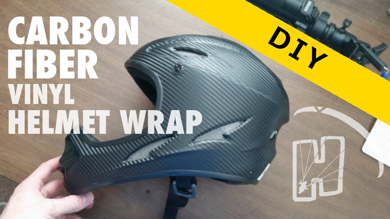 Carbon Fiber Vinyl Helmet Wrap YouTube - Vinyl wrap for motorcycle helmets