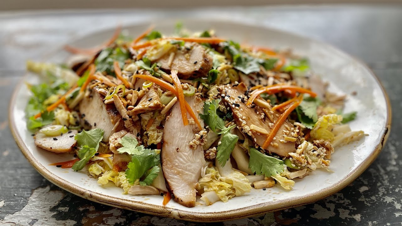 How to Make Grilled Ginger-Sesame Chicken Salad | Curtis Stone