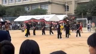 滑石秋祭り、滑石中学校龍踊り