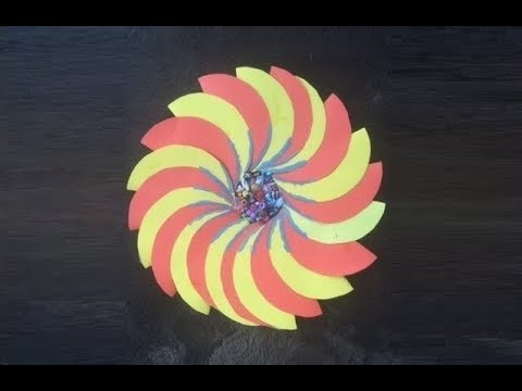 Spiral Jumbo Paper Flower with Waste Beads  - DIY Craft