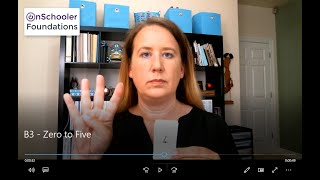 B3 -See, show & say 0-5 (Review the names of the numbers and how to show on fingers)