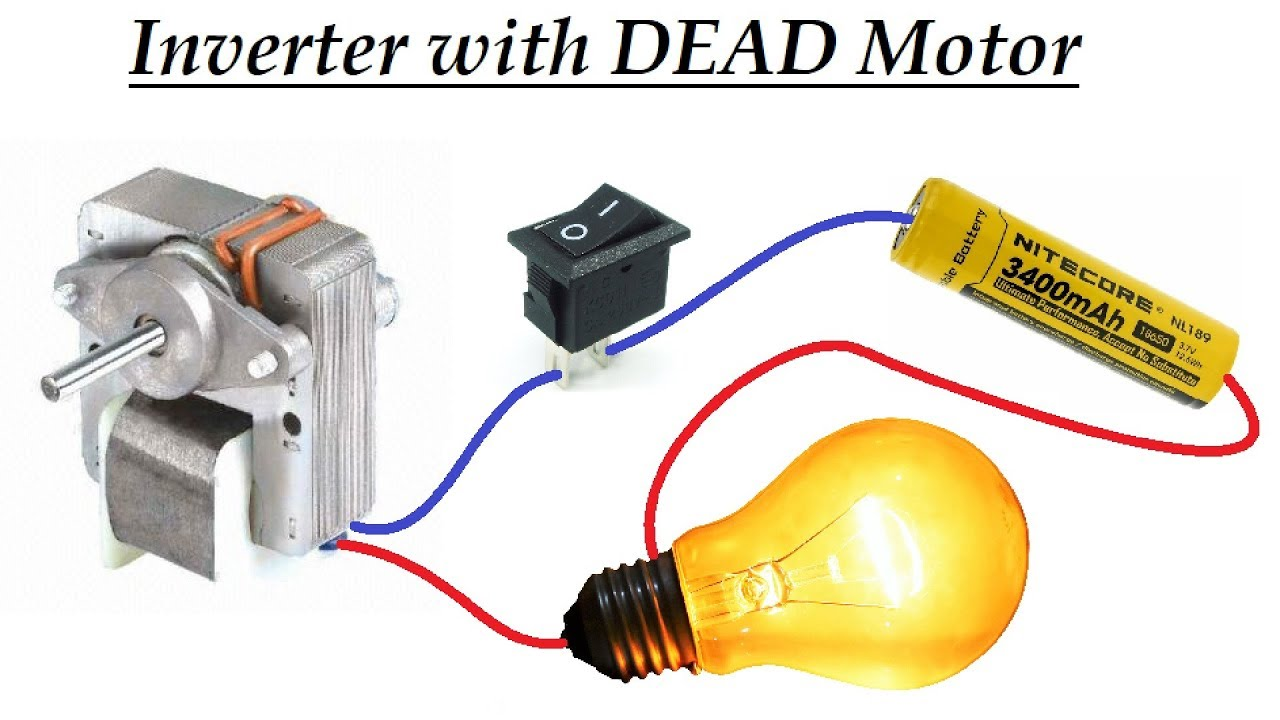 Dc To Ac Converter   Inverter   With Dead Induction Motor