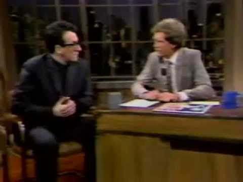 Elvis Costello & The Attractions - Kid About It/Interview/Man Out Of Time (Live On Letterman 1982)