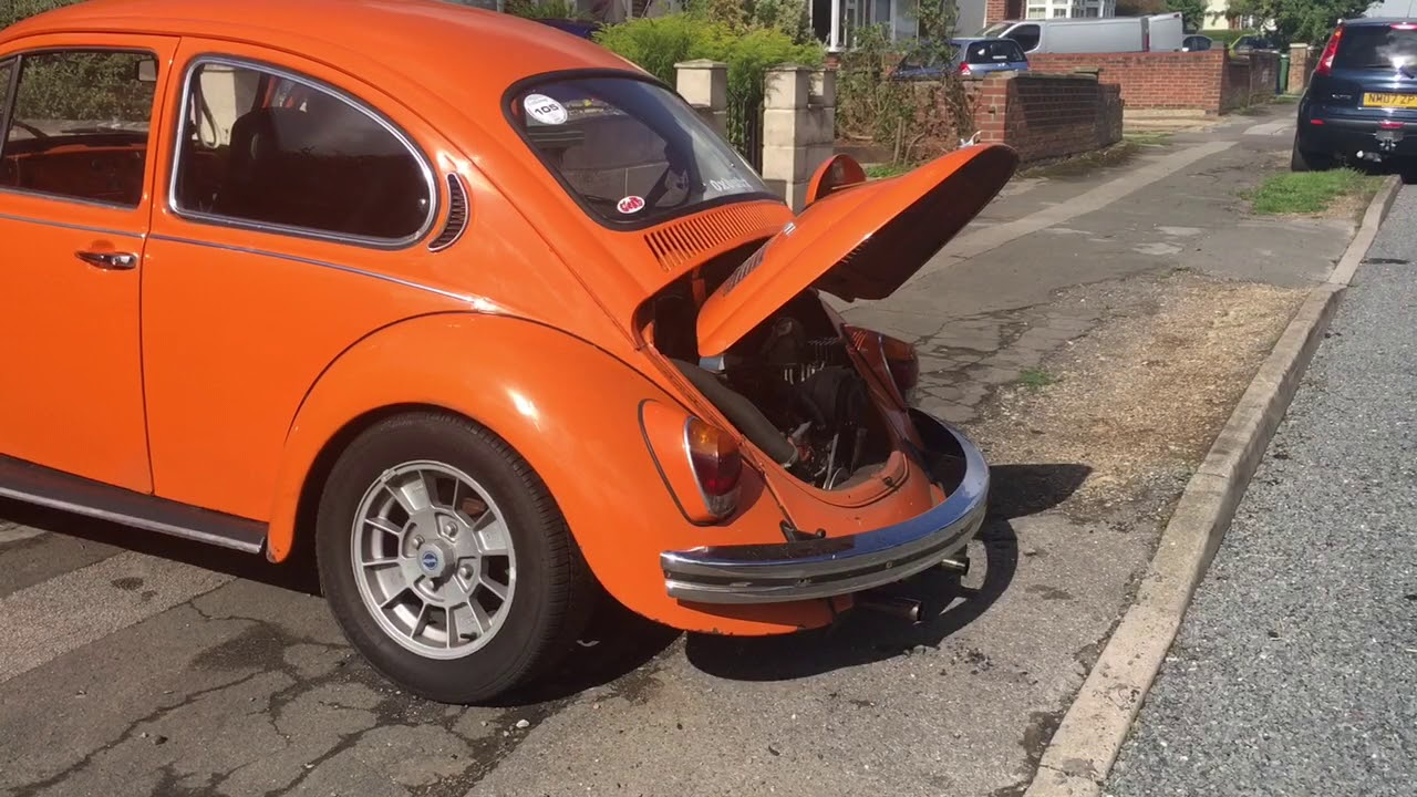 Cold Start of Type 1 VW Beetle with Type 4 2 0 Porsche 914 Engine Conversion
