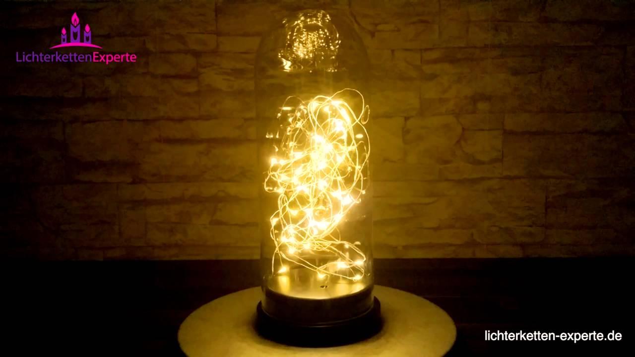 Designleuchte mit lichterkette batteriebetrieben aus glas for Weihnachtsdeko im glas mit lichterkette