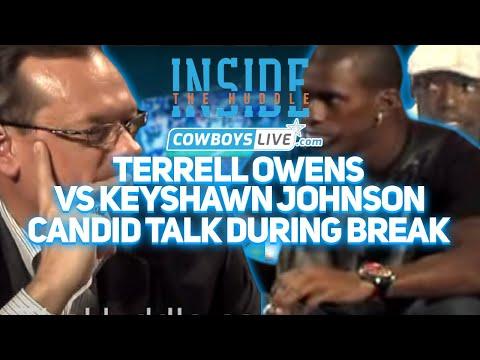 Terrell Owens vs Keyshawn Johnson (candid talk during break)