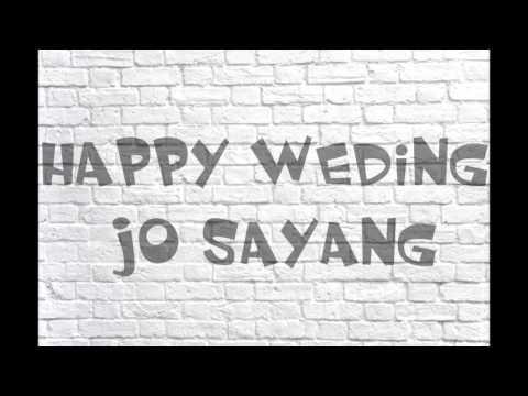 lagu manado-happy weding jo sayang +lirik