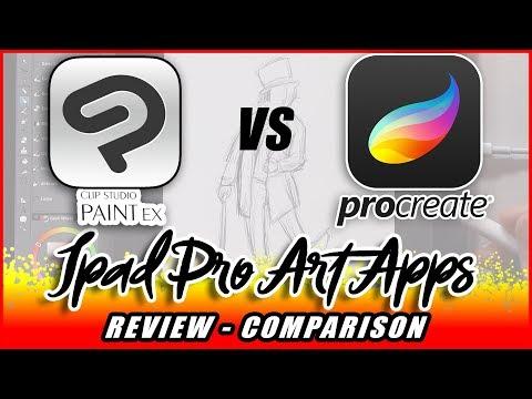 Clip Studio Paint on Ipad Pro vs Procreate - Reviewed for Illustrators