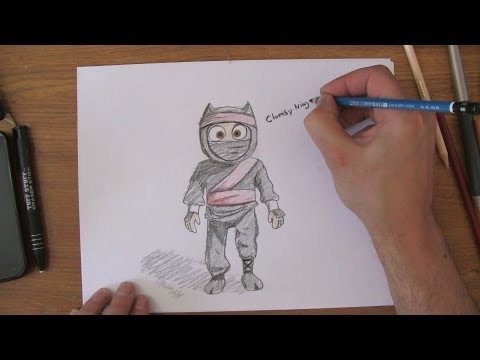 How To Draw Clumsy Ninja