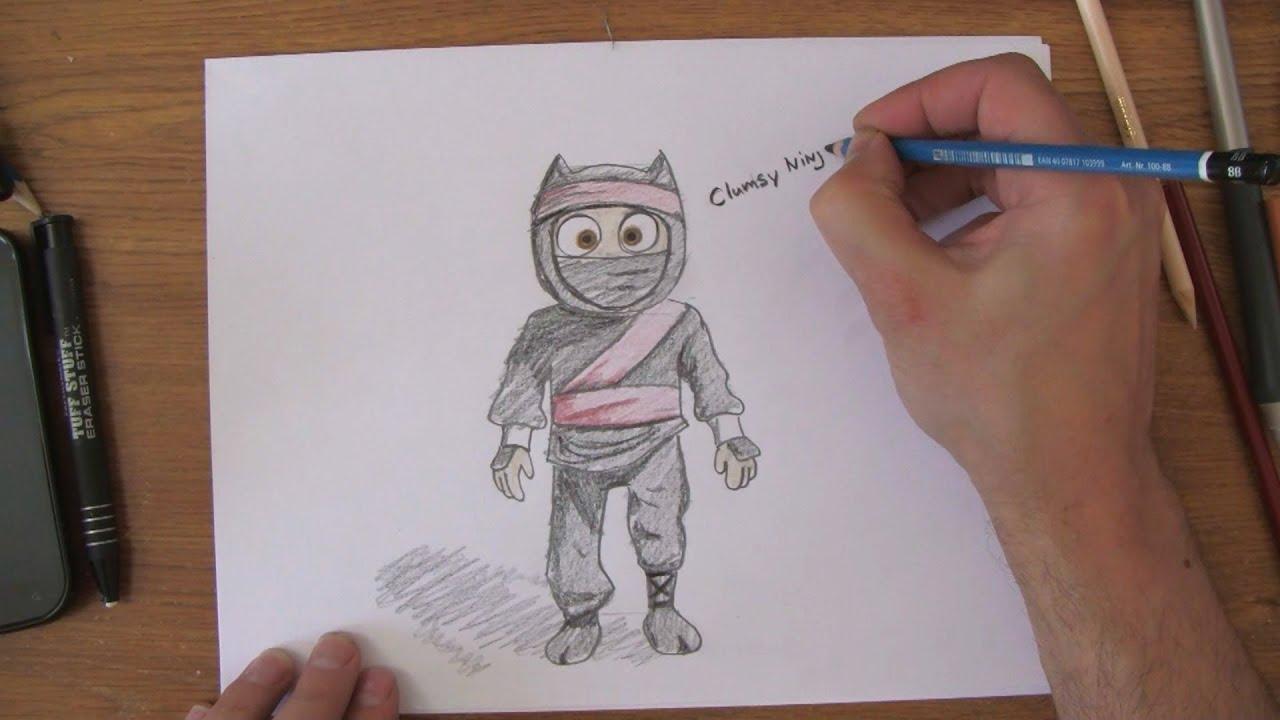 Uncategorized Draw Ninja how to draw clumsy ninja youtube