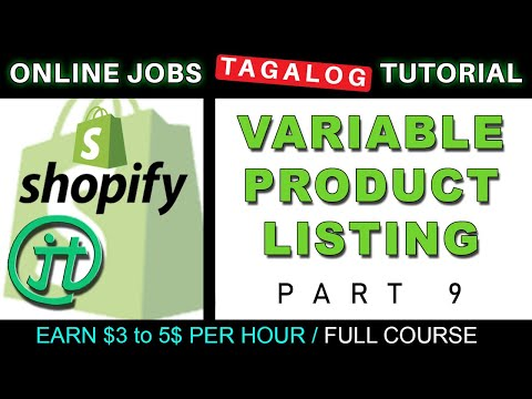 Shopify Variable Product Listing Tutorial Online Jobs at Home Virtual Assistant Job Philippines thumbnail