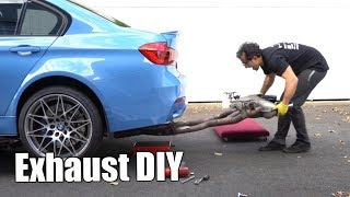 V64: DIY Exhaust Install on an F80 BMW M3 - Active Autowerke Midpipe & Muffler (F82 M4 & F83 M4)