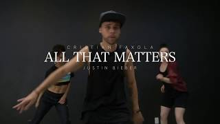 All the Matters - Justin Bieber  | Choreography by @cristianfaxola