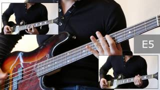 Как играть на бас гитаре Мой характер - Король и шут  ( видеоурок Guitar riffs) + табы