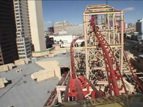 Manhattan Express Roller Coaster Rollercoaster POV NY, NY Hotel - Las Vegas
