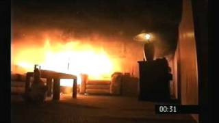 Christmas tree fire destroys a living room in under a minute