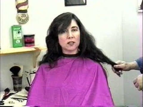 """0193 """"CHOPPED!!"""" LIZ CHOPS OFF HALF HER HAIR GETS RARE HAIRCUT FROM LINDA DVD 193 HAIRCUT.NET"""