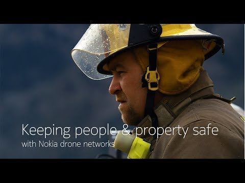 Keeping people & property safe with Nokia drone networks