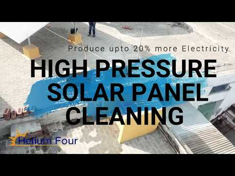 Best way to clean solar panels