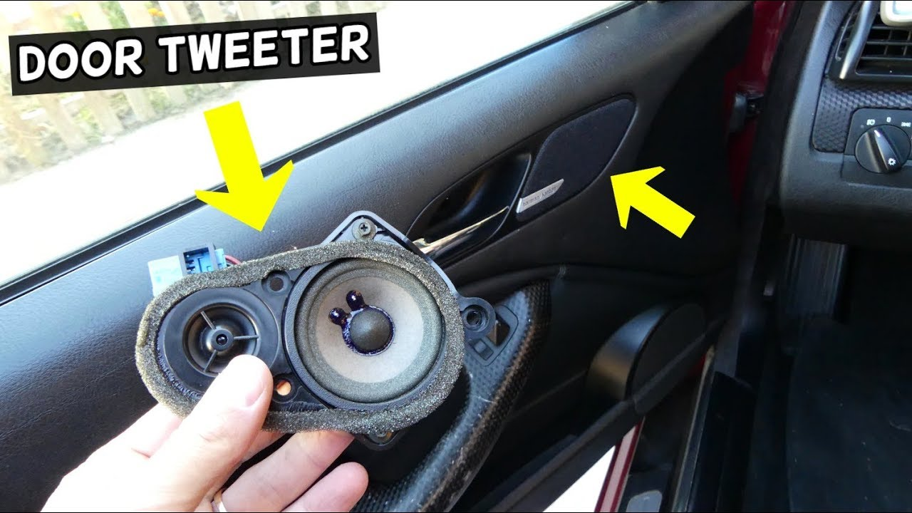 hight resolution of how to replace door tweeter speaker on bmw e46 coupe convertible