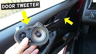 HOW TO REPLACE DOOR TWEETER SPEAKER ON BMW E46 COUPE CONVERTIBLE