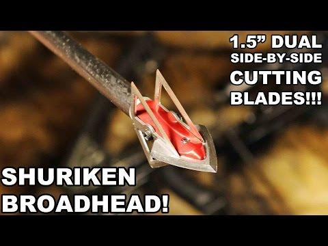 """Shuriken Broadhead! 1.5"""" Side-by-Side Blades"""