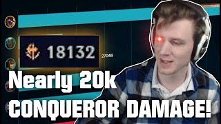 Hashinshin: Nearly 20k True Damage with CONQUEROR?! SUPERTOP 1v9 Carry!
