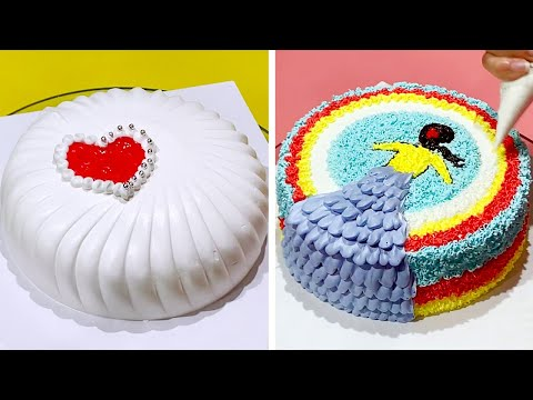 simple-&-creative-cake-decorating-ideas-|-most-satisfying-chocolate-cake-|-easy-cake-decorating