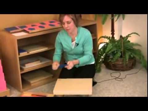 Montessori Language Lesson   Metal Insets