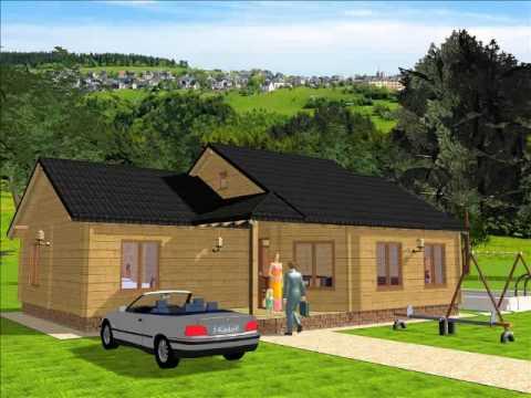 Infomader modelo adriana 116 m2 casas de madera youtube - Infomader casas de madera ...