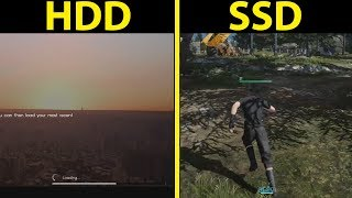 Final Fantasy 15 Windows - Hard Drive VS SSD Comparison & How To Move Game Folder Tutorial