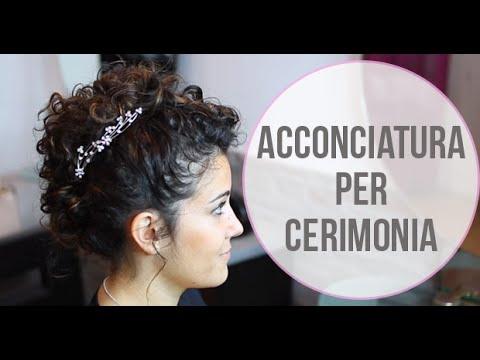 Acconciatura Capelli Ricci Per Cerimonia