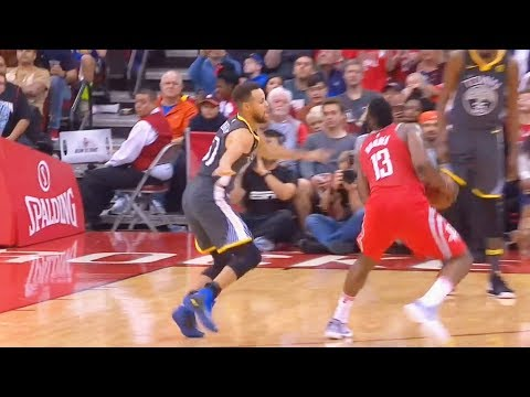 Download Youtube: Stephen Curry CROSSED OVER By James Harden Who Hits the Clutch Step Back 3 Pointer! in his Face!