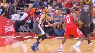Stephen Curry CROSSED OVER By James Harden Who Hits the Clutch Step Back 3 Pointer! in his Face!