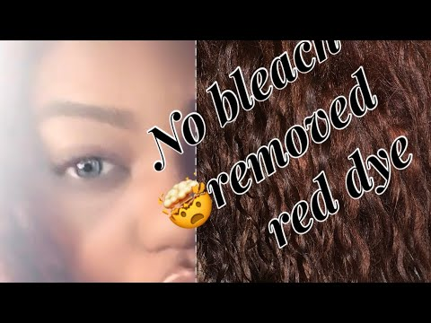 Remove color dye from weave | NO BLEACH| #Cheapway