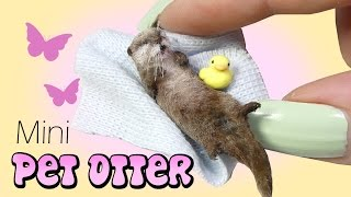 How To Mini Otter Tutorial // DIY Miniature Doll Pet Otter
