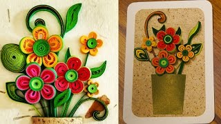 How To Make A 3D Flower Greeting Card | Quilling Artwork