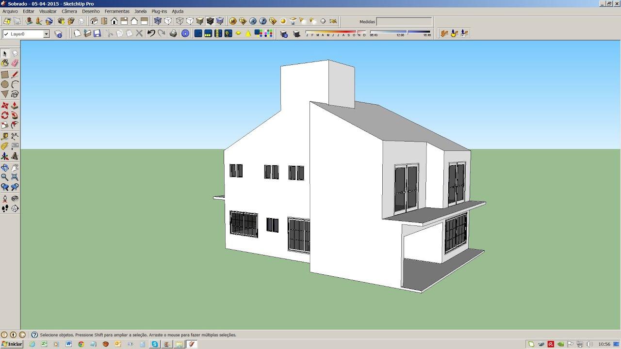 Sketchup casa 2 pavimentos modelo d parte 01 03 youtube - Casa facil picassent ...