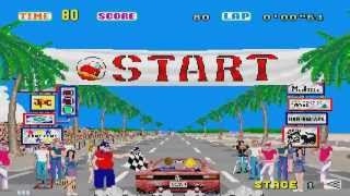 1987 Outrun Passing Breeze Arcade Old School Game Playthrough  Retro Game