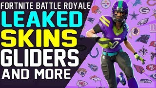 NEW Fortnite FOOTBALL LEAKED SKINS Patch 6.22, GLIDERS, EMOTES, PICKAXES, Season 6 Football Skins