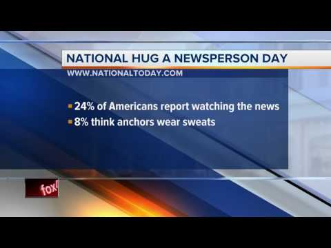 National Hug a Newsperson Hit #1