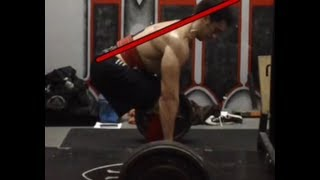Fixing the Deadlift -- Pulling with a Straight Back