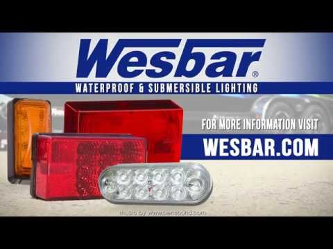 Wesbar 203315 Submersible Light Bar W// Red Lens