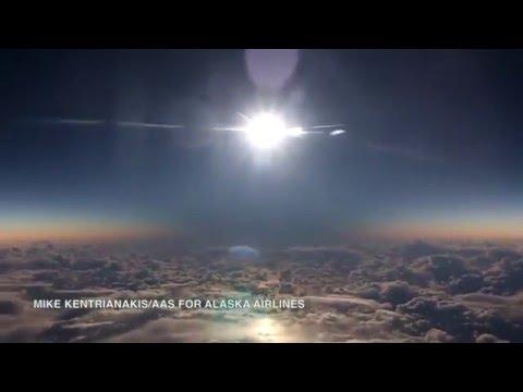 Magnifique vidéo de l'éclipse du 9 mars filmée depuis un avion