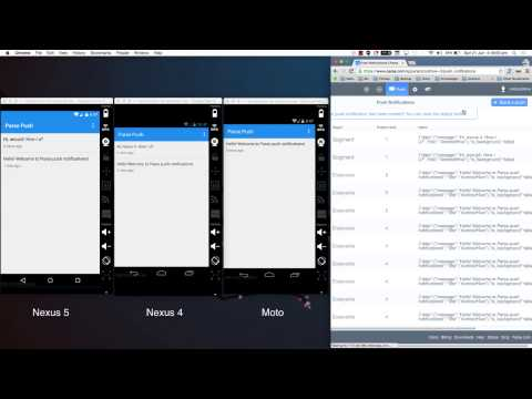 Android Push Notifications using Parse.com (Demo)