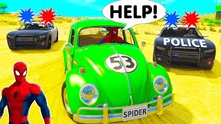 TRAINS FOR KIDS Cartoon in Spiderman Cars Video for Children with Nursery Rhymes Children's Songs 2
