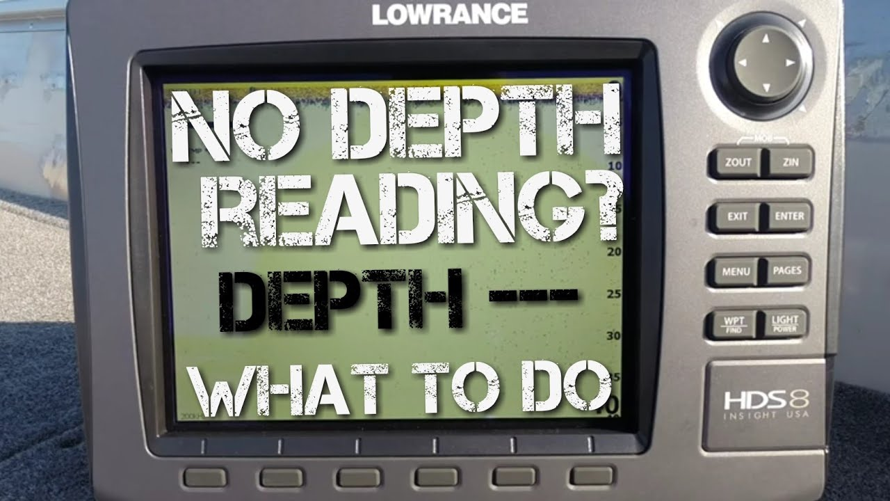 No Depth Reading on Fishfinder - How to Troubleshoot