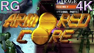 Armored Core - PlayStation 1 - Intro & Gameplay opening missions [4K60]
